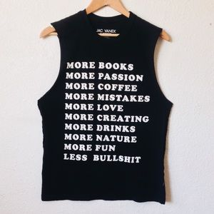 Jac Vanek More & Less inspirational Tank